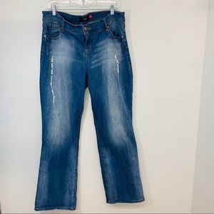 Torrid Denim 18 Boot Cut Distressed Stretch P67